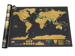 Post Weltkarte zum Freirubbeln