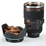 Doppelwandige Edelstahl Tasse Kameraobjektiv Kaffeebecher Kaffeetasse Objektiv Iso-Becher