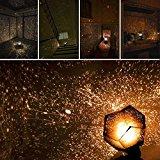 KOBWA Romantische Stern-Nachtlichter Projektor-Nachtlampe Sternenhimmel Schlafzimmer Dekoration Beleuchtung Gadget