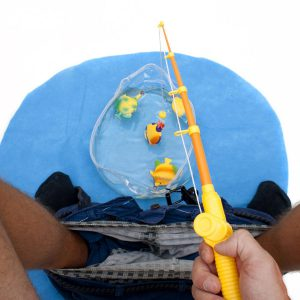 Toiletten WC Angel Set - Das lustige Fischen Angeln Spielzeug Potty Fisher fürs Klo