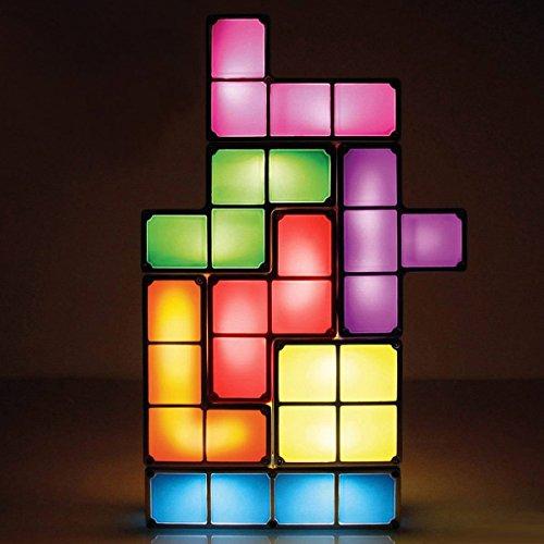 Retro Tetris Lampe – Stapelbare LED Tischleuchte