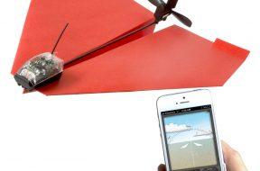 Papierflieger mit Fernsteuerung und Kamera auf gadgetzone.de