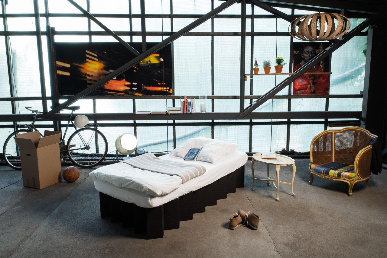 Room in a Box – Pappbett, oder das Schlafzimmer aus Karton
