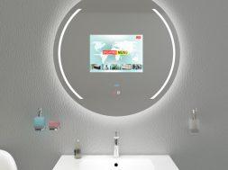 Der Fernseher im Badezimmerspiegel auf gadgetzone.de