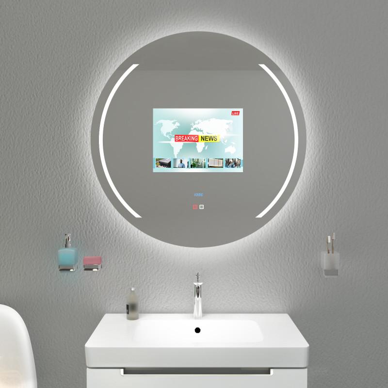 Der Fernseher im Badezimmerspiegel